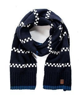 Knowledge Cotton Apparel Reverse Knit Scarf Total Eclipse