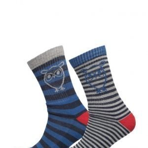 Knowledge Cotton Apparel Tennis Socks 2pack nilkkasukat