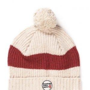 Knowledge Cotton Apparel Tweed Patent Tassel Hat