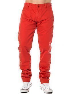 Knowledge Cotton Apparel Twisted Twill Aurora Red