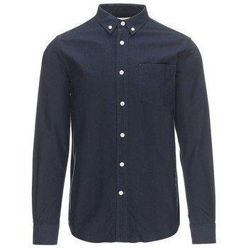 Knowledge Cotton Apparel kauluspaita pitkähihainen paitapusero