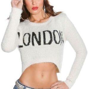 Koucla beige lyhyt LONDON villapaita