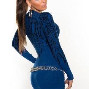Koucla sininen seeprakuvioinen neulemekko