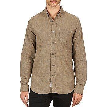 Kulte CHEMISE CLAY 101799 BEIGE pitkähihainen paitapusero
