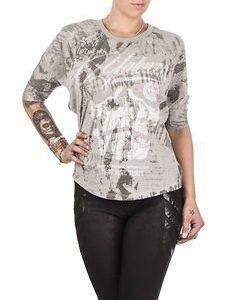 L.A Skull Shirt Grey Melange