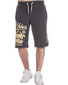 L.A Skull Sweat Shorts Anthracite
