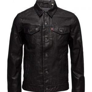 LEVI´S Men The Trucker Jacket Black Buffa nahkatakki