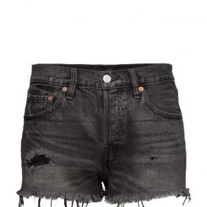 LEVI´S Women 501 Short Slashed Black farkkushortsit
