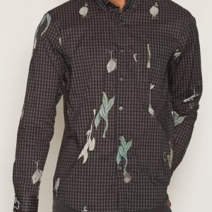 L'Homme Rouge Botany Shirt Dark Kauluspaita Dark Brown