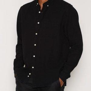 L'Homme Rouge Needs Crêpe Shirt Kauluspaita Musta