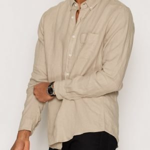 L'Homme Rouge Needs Linen Shirt Kauluspaita Green