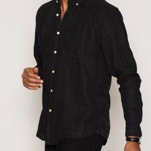 L'Homme Rouge Needs Linen Shirt Kauluspaita Musta