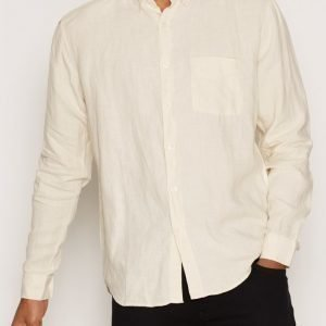 L'Homme Rouge Needs Linen Shirt Kauluspaita Yellow