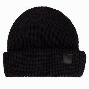 L'Homme Rouge Needs Merino Hat Pipo Musta