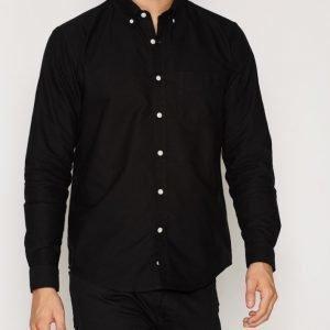 L'Homme Rouge Needs Oxford Shirt Kauluspaita Musta