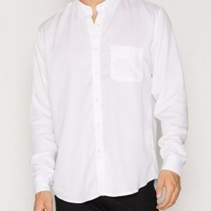 L'Homme Rouge Original Tencel Shirt Kauluspaita Valkoinen