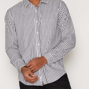 L'Homme Rouge Ready Stripes Shirt Kauluspaita Musta