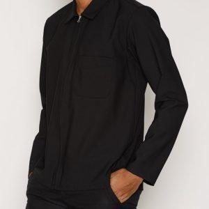 L'Homme Rouge Second Layer Wool Shirt Kauluspaita Musta