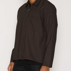L'Homme Rouge Second Layer Wool Shirt Kauluspaita Ruskea