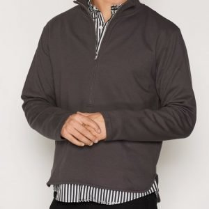 L'Homme Rouge Wave Zip Sweater Pusero Aubergine
