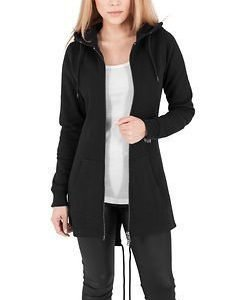 Ladies Sweat Parka Black