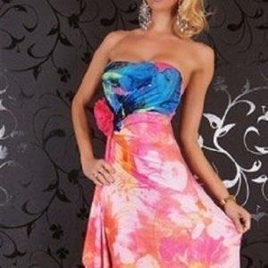 Laurel pinkki mekko (plus size)