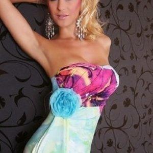 Laurel sininen mekko (plus size)