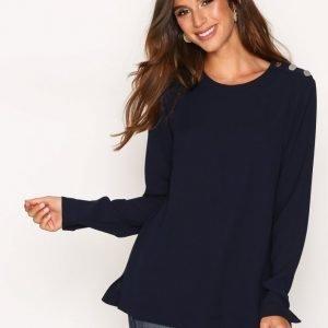 Lauren Ralph Lauren Asatira Long Sleeve Shirt Arkipaita Navy