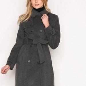 Lauren Ralph Lauren Bltd Wool Cashmere Coat Pitkä Takki Grey