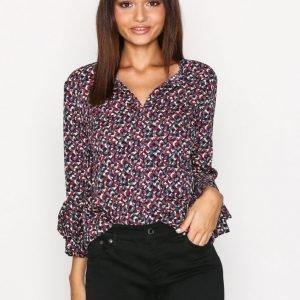 Lauren Ralph Lauren Chelsah Elbow Sleeve Shirt Arkipaita Multi