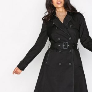 Lauren Ralph Lauren Db Trench Coat Trenssitakki Black