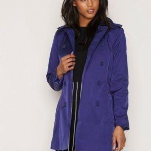 Lauren Ralph Lauren Double Breasted Jacket Trenssitakki Steel / Blue