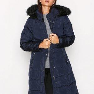 Lauren Ralph Lauren Dwn Wst Dtl Wool Coat Untuvatakki Navy