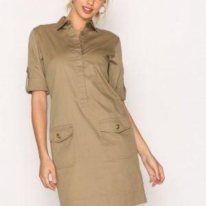 Lauren Ralph Lauren Elsie Short Sleeve Casual Dress Loose Fit Mekko Sage