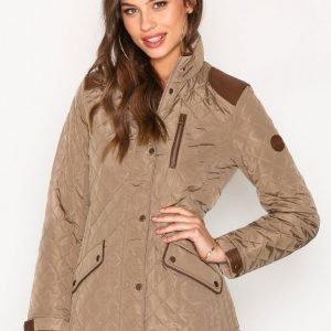 Lauren Ralph Lauren Faux Leather Quilted Coat Untuvatakki Bridle
