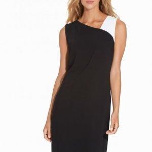Lauren Ralph Lauren Floria Sleeveless Dress Loose Fit Mekko Black / White