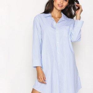 Lauren Ralph Lauren Heritage Sleepshirt Yöpaita Sininen / Valkoinen