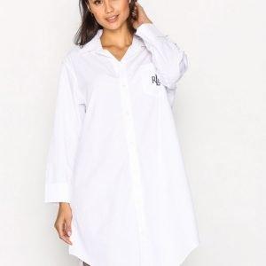 Lauren Ralph Lauren Heritage Sleepshirt Yöpaita Valkoinen