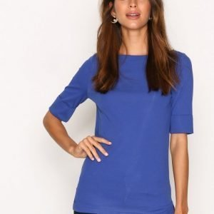 Lauren Ralph Lauren Judy Elbow Sleeve Knit T-Paita Blue