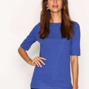 Lauren Ralph Lauren Judy Elbow Sleeve Knit T-Paita Blue