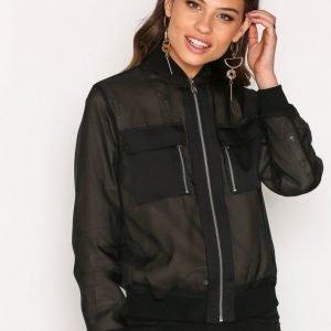 Lauren Ralph Lauren Karaina Jacket Bomber Takki Black
