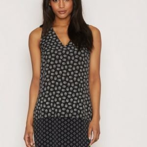 Lauren Ralph Lauren Kinello Vneck Dress Loose Fit Mekko Black