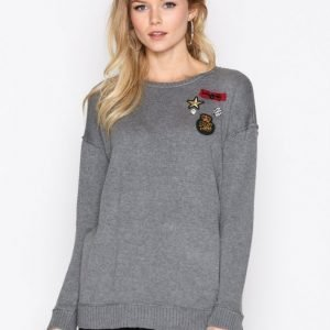 Lauren Ralph Lauren Kitty Long Sleeve Knit Neulepusero Grey