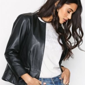Lauren Ralph Lauren Macon Leather Jacket Nahkatakki Black