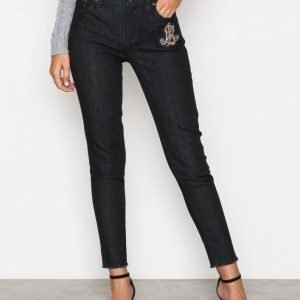 Lauren Ralph Lauren Skinny 5 Pocket Denim Jeans Straight Farkut Blue
