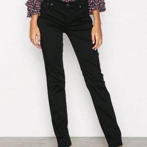 Lauren Ralph Lauren Straight Sateen Pant Housut Black