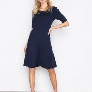 Lauren Ralph Lauren Teagin Elbow Sleeve Dress Loose Fit Mekko Navy
