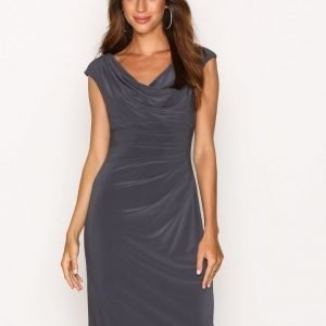 Lauren Ralph Lauren Valli Cap Sleeve Day Dress Kotelomekko Grey