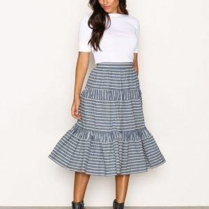 Lauren Ralph Lauren Vanuth Full Skirt Midihame Blue / White
