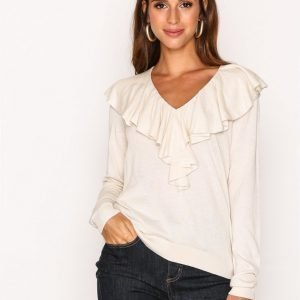 Lauren Ralph Lauren Vasiva Long Sleeve Neulepusero Natural